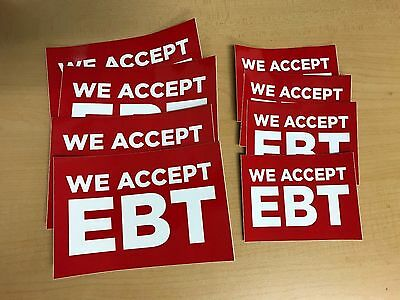 EBT STICKER PACK (includes FREE Ground Shipping)