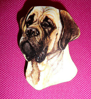 Golden Fawn Colored Old English Mastiff Dog Breed Lightweight Wooden Pin