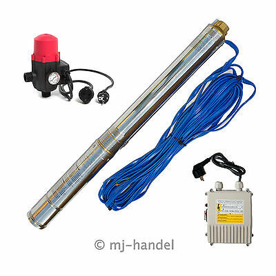 3 Inch Deep-Well Pump Pressure Switch 6BAR Well Pump Submersible Pump 20m Cable