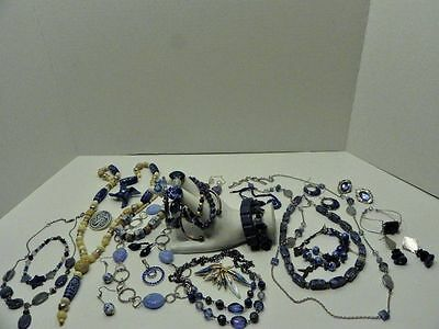 Costume Jewelry Lot Stones Glass etc some old ones