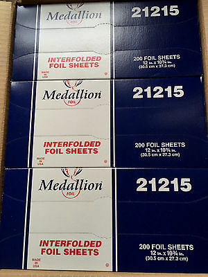 Interfolded Foil Sheets 21215 Medallion 12 X 10 3/4 Box 12 X 200 Count Wood Wrap