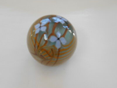 Signed Buzzini  Bridgeton Studios Art Glass Paperweight