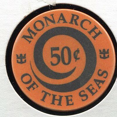 WET Monarch ofthe Seas 50c Royal Caribbean CG37567Additional Chips Ship for 25c!