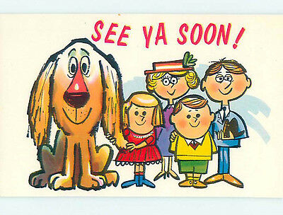Pre-1980 comic LARGE OVERSIZED DOG WITH FAMILY HJ2097
