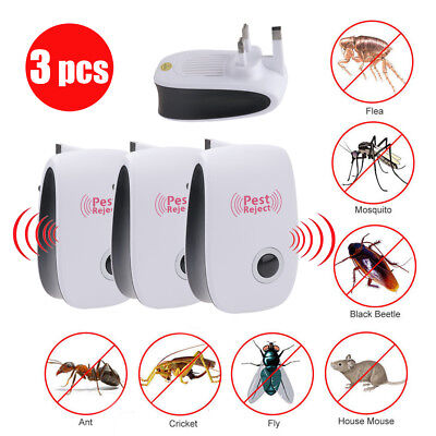3X Whole House Electronic Rat Mouse Mice Spider Pest Repeller Deterrent Reject