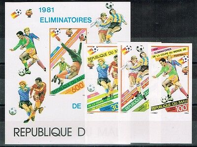 Mali 1981.1982 World Cup.Soccer.Football.Fussball.Imperforated.MNH.**