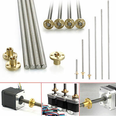 Acme threaded Rod Stainless steel Leadscrew+T8 Nut For CNC 3D printer Reprap 8mm
