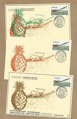 Ciskei: 5 Hand-cancelled FDCards; all with ERRORS + Set 4 MNH (Ref 640)