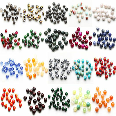 Wholesale 4/6/8/10mm Natural Stone Gemstone Round Spacer Charm Loose Beads