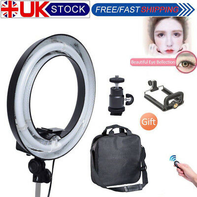 Studio 400W 34cm 14'' Ring Light + Camera iPhone Holder Clamp Photo Video