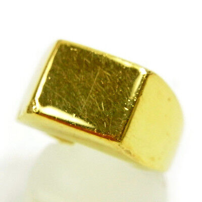 Auth Gucci Ring Square Type Ladies Men''s Yes used C2652