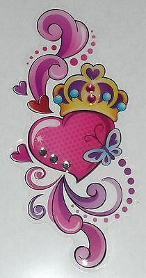 Love Heart + Crown Design Sticker for Apple iPhone/iPad/iPod Smart Phone Decal