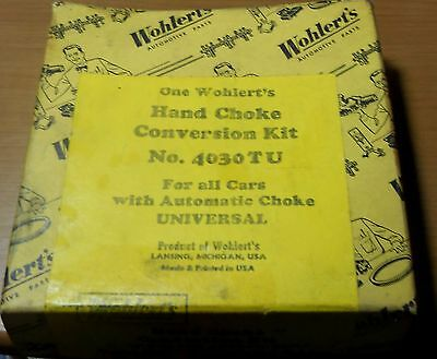 Vintage Wohlert's 4030TU Universal Hand Choke Conversion Kit New Old Stock