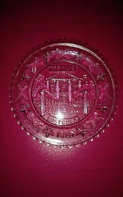 Etched cup plate with Rosalie from Natchez Mississippi 1920