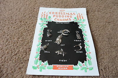 Vintage Boots Sterling Silver Christmas Pudding Charms