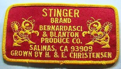 STINGER Brand Produce Company -Salinas,CA -Embroidered Patch