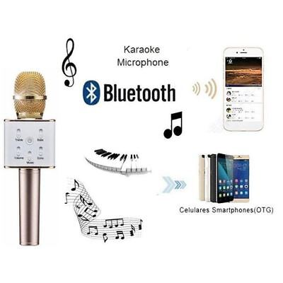 Q7 Wireless Bluetooth Microphone Sing Karaoke with Smartphone / PC and Media Pla