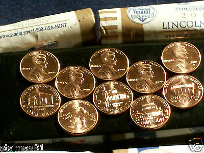 Bu Mint State 2-Ten Coin Sets  Wow 2009-10 Lincoln Series P&d Us.mint Penny Sets