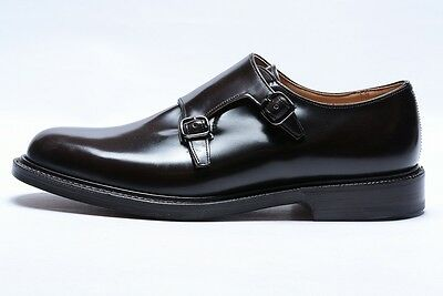 CHURCH'S $1130 LAMBOURN Leather Shoes Double Monk 103Last UK8.5 Brown