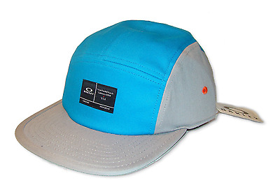 Lot of 5 - New Oakley Latch 5 Panel Hat Pacific Blue 911683 w/Tag. Retail $28.