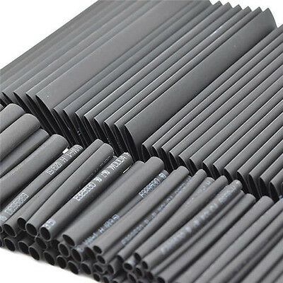 127 PCS 2:1 Polyolefin Heat Shrink Tubing Cable Tube Sleeving Kit Wrap Wire USA