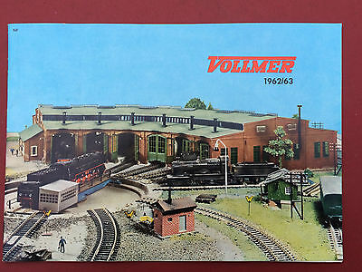 Catalogue Jouets Anciens Vollmer Train 1962-1963 Maquette Modelisme Ho Locomotiv