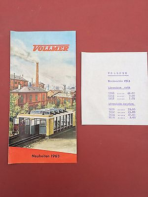 Catalogue Jouets Anciens Vollmer Train 1963 Maquette Modelisme Ho Locomotiv