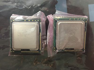 (2) Intel E5620 2.4GHz quad-core 12MB 5.86GT/s SLBV4 (from mid-2010 Mac Pro 5,1)
