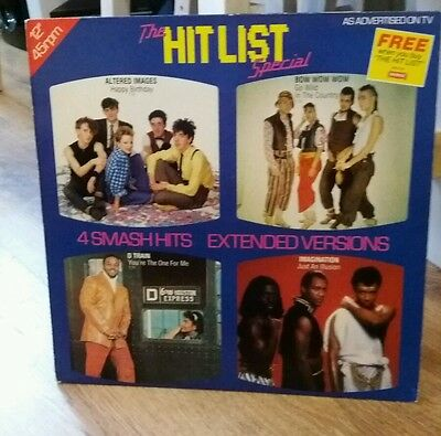 """The HITLIST Special - Scarce 1982 4-track 12"""" vinyl single"""