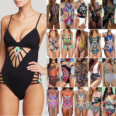 One Piece Women Push up Bikini Monokini Swimwear Swimsuit Beachwear Bathing Suit