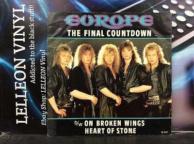 "Europe The Final Countdown 12"" Single Vinyl TA7127 A1/B1 Rock 80's"