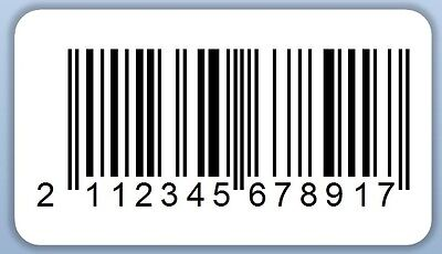 EAN Printed Barcode Self Adhesive Labels Stickers