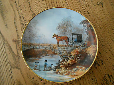 'Barefoot and Fishing' Limited Edition Fine Porcelain Plate by Al Koenig