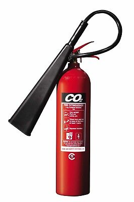 FSS UK 5 KG / KG CO2 FIRE EXTINGUISHER BRITISH OFFICE ELECTRICAL KITEMARKED co 2