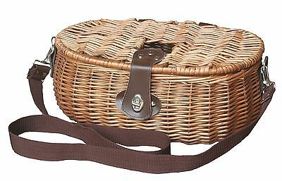 wicker fishing creel basket carp fly fishing storage basket display
