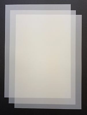 10 A4 Frosted Acetate Sheets 100 MICRON Laser & Copier Printable