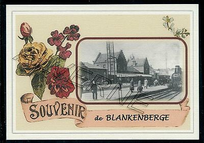 BLANKENBERGE - gare souvenir creation moderne - serie limitee numerotee