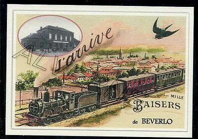 BEVERLO.  -..... train  souvenir creation moderne serie numerotee