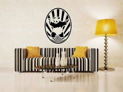 Starburst Banksy Panda With Guns Wall Sticker Removable Wall Mural Art DECAL UK