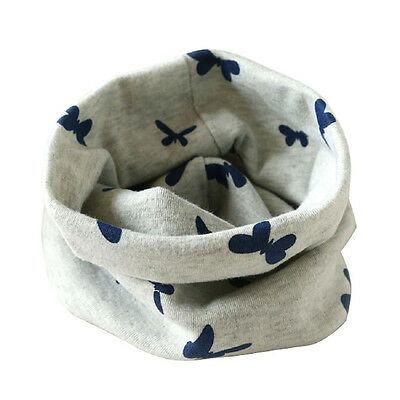 Boys Girls Collar Baby Scarf Cotton O-Ring Neck Scarves (gray) K1F8
