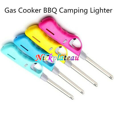 Gas Cooker BBQ Camping Lighter Refillable Safety Flame Lock Barbeque
