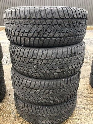 4X Pneus Hiver Occasion 225/55/17 Goodyear   5/4Mm