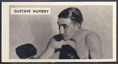 Cartledge-Famous Prize Fighters Boxing (Matt White Print)-#44- Gustave Humery