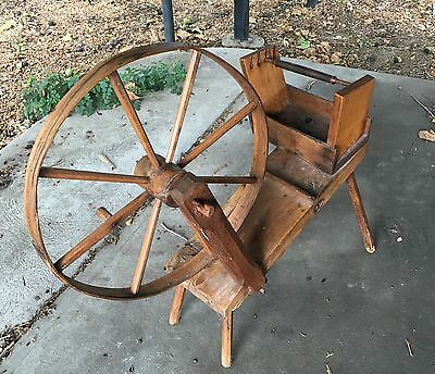18th Century Colonial Hand Made Bobbin, Quill, Or Pirn Winder- All Original