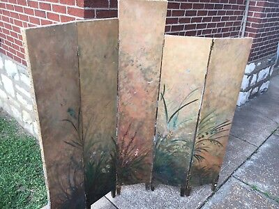 Rare and Unique Early 20th Cent. Impressionist Canvas Painting/Dressing Screen