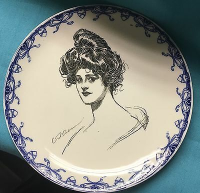 1902 Royal Doulton Gibson Girl Dinner Plate - Hard to Find!