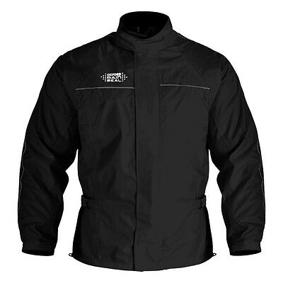 Oxford Rainseal Waterproof Motorcycle Over Jacket - Black - Sizes S to 6XL