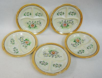 Vintage Lusterware Hand Painted Childs Toy Dishes Tea Set Grill Plates Lot of 5