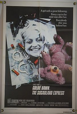 The Sugarland Express Ff Orig 1Sh Movie Poster Steven Spielberg Goldie Hawn 1974