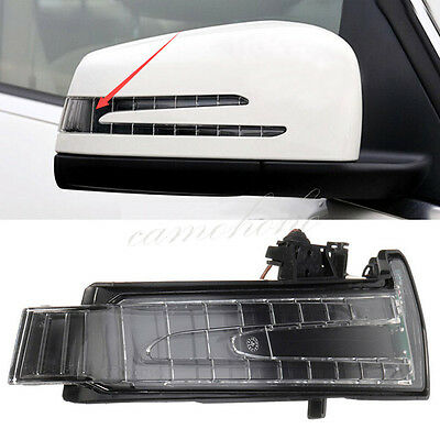 Right Side Led Mirror Marker Turn Signal Light lens For Mercedes W204 W212 W221